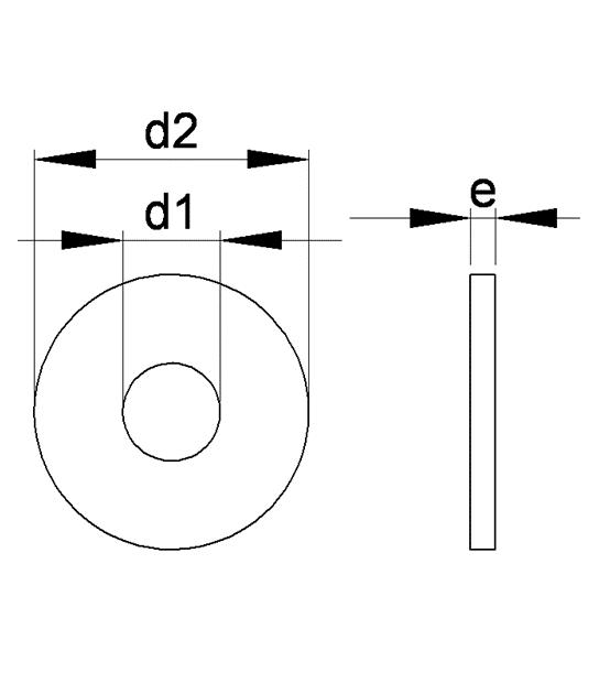Nylon, M30 PA polyamide DIN 125 10 x M30 rondelles en plastique nylon
