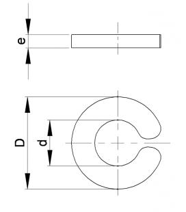 RONDELLE CLIP POUR AXE LISSE - RCL