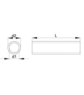ENTRETOISE LISSE BAGUE ISOLANTE - Thermoplastique - EL