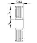 RACCORD POUR TUBES CARRES - RTC