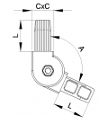 RACCORD ARTICULE POUR TUBES CARRES - RTCA