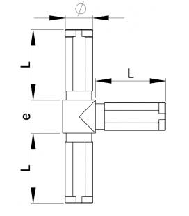 RACCORD EN T POUR TUBES RONDS - RTRT
