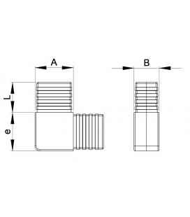 RACCORD POUR TUBES RECTANGULAIRES EN L PLAT - RTGLP