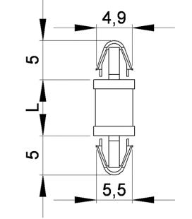 SUPPORT CI CLIP / CLIP Série 16 - HSCC