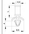 SUPPORT CI ANCRE / PLAT - HSAP01