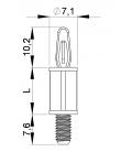 SUPPORT CI VIS MÂLE / CLIP Série 07 08 - HSMC