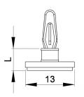 SUPPORT CI ADHESIF / CLIP Série 03 - HSHC