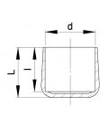 EMBOUT ENVELOPPANT ROND PVC - EER